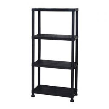 Unihomes Storage Rack Freestanding Multifunctional Decorative Storage Shelving for Home Office, Vintage Brown Industrial Style